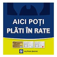 Plata online in rate cu cardul Alpha Banck