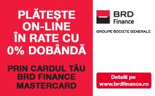 Plata online in rate cu cardul BRD