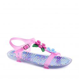 Sandale plaja fete Tricia Multicolor Fucsia Fluor