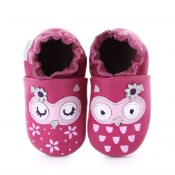 Pantofi bebelusi Snowy Owl pink