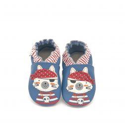Pantofi bebelusi Pirate Catz Bleu