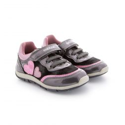 Pantofi Sport fete Shaax GB Grey Pink
