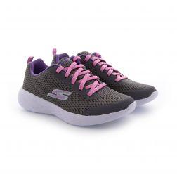 Pantofi Sport fete Go Run 600 Fun Run Light Grey