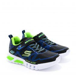 Pantofi Sport baieti Flex Glow L Black Lime