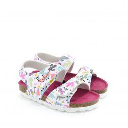 Sandale fete 637315 Summerkro Blanc Cactus