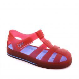 Sandale plaja baieti Star Rojo