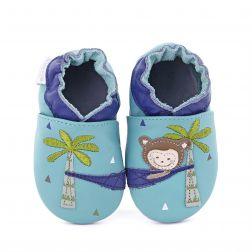 Pantofi bebelusi Lazy Monkey Turquoise