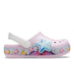 Sandale plaja Fete Star Band Clog Ballerina Pink
