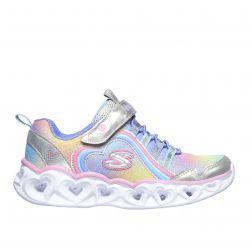 Pantofi sport fete Heart Lights Rainbow Lux Silver Multi N