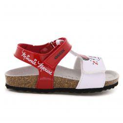 geox Sandale Fete S.Chalki B.C Red White incaltaminte copii bigstep sandale cu Minnie Mouse