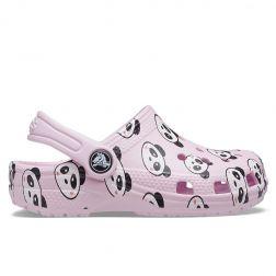 Sandale plaja Fete Crocs Classic Panda Print Clog K