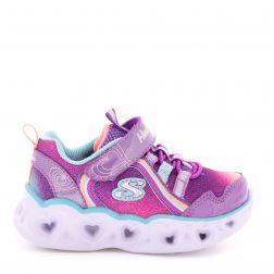 Pantofi sport fete Heart Lights Rainbow Lux Purple