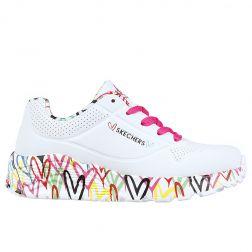 Pantofi sport fete Uno Lite Lovely Luv White Multi