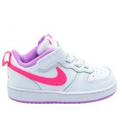 Pantofi sport fete BQ5453 Court Borough Low 2 Pink White