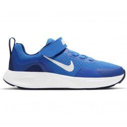 Pantofi Sport Baieti CJ3817 Nike Wear All Day Signal White Blue