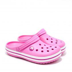 Sandale plaja fete Crocband K Party Pink