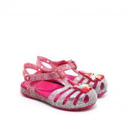 Sandale plaja fete Crocs Isabella Charm Sandal K Pink Ombre
