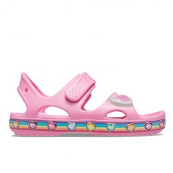 Sandale plaja Fete Crocs Fun Lab Rainbow Sandal Pink