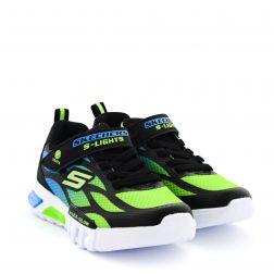 Pantofi Sport Baieti Flex Glow Blue Lime