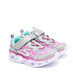 Pantofi Sport Fete Heart Lights N Silver Multi