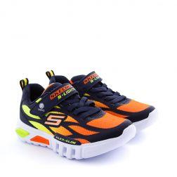 Pantofi Sport Baieti Flex Glow Navy Orange