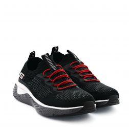 Pantofi Sport Baieti Solar Fuse Black Grey Red
