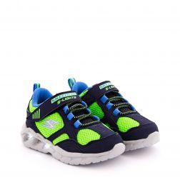 Pantofi Sport Baieti Magna Lights Navy Lime