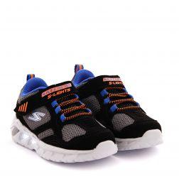 Pantofi Sport Baieti Magna Lights Black Orange