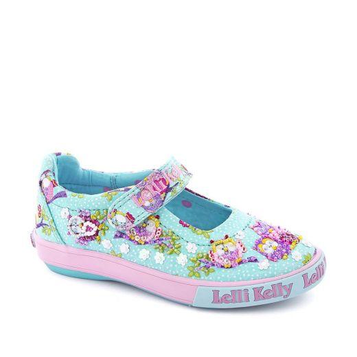 Pantofi fete Owlie Turquoise Fantasy