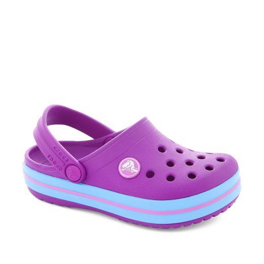 Sandale plaja fete Crocband K Vibrant Violet