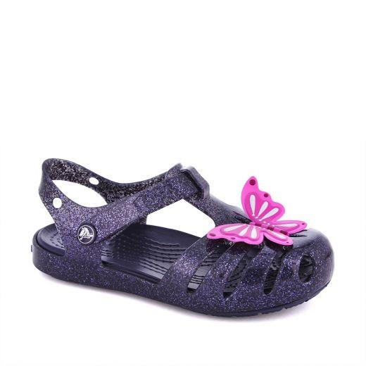 Sandale plaja fete Crocs Isabella Novelty Sandal Navy