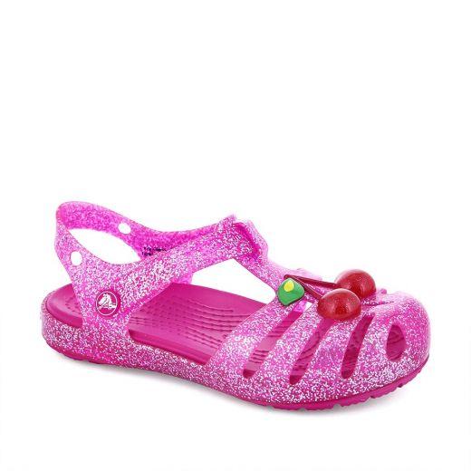 Sandale plaja fete Crocs Isabella Novelty Sandal Vibrant Pink