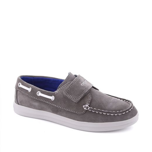 Mocasini baieti Anthor BF Grey White