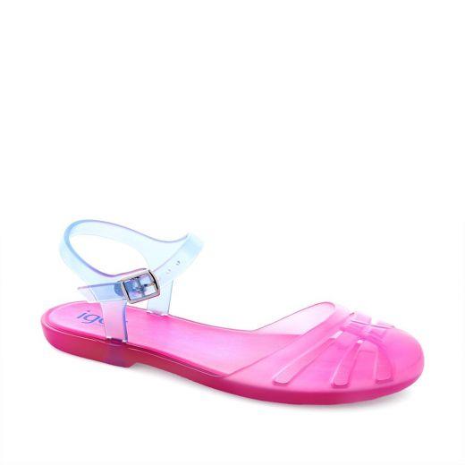 Sandale plaja fete Mara Mini Fucsia Fluor
