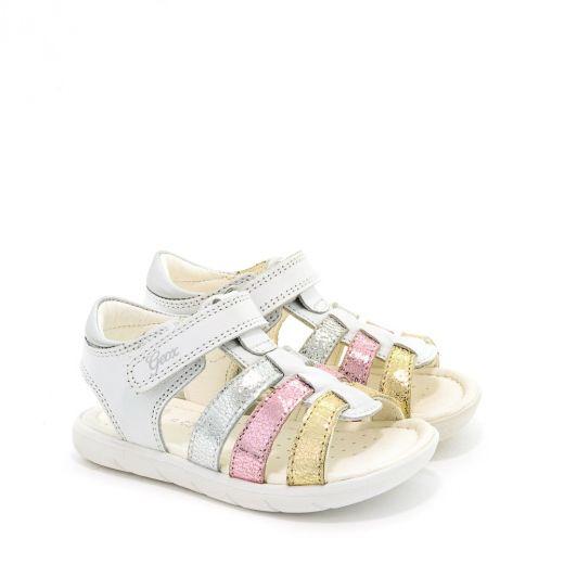 Sandale fete San Alul GA White Multicolor