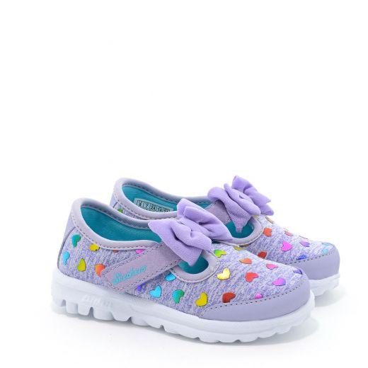 Pantofi Sport fete Bitty Hearts Lavender