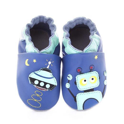 Pantofi bebelusi Crasy Robot Bleu