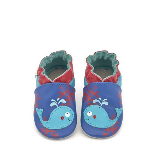 Pantofi bebelusi Water Animals Bleu
