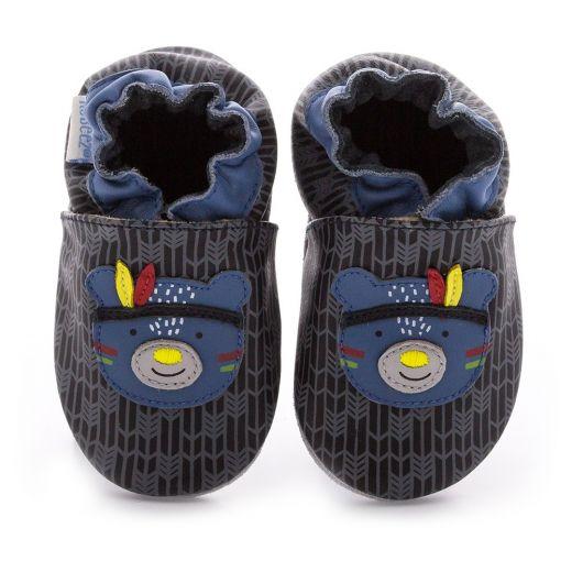 Pantofi baieti Wood Night Noir