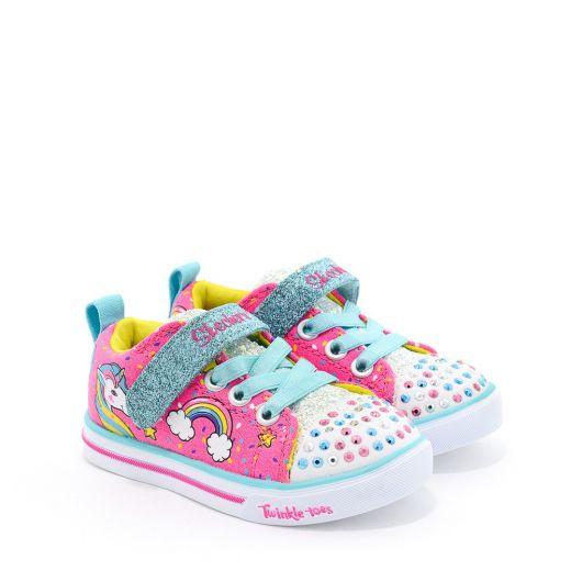 Tenisi fete Sparkle Lite Unicorn Craze Neon Pink