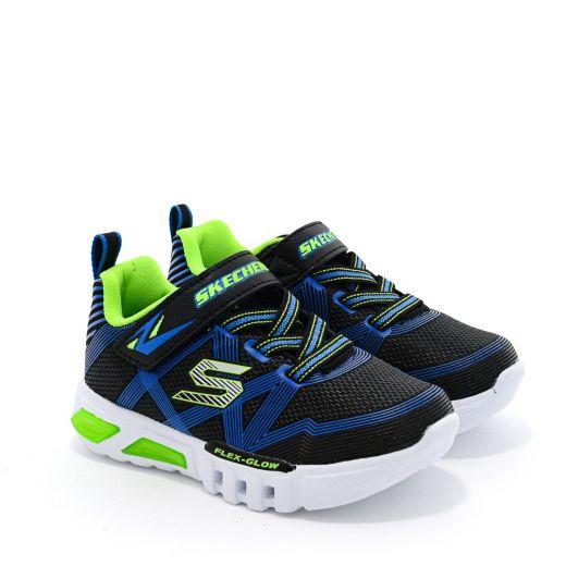 Pantofi Sport baieti Flex Glow N Black Lime