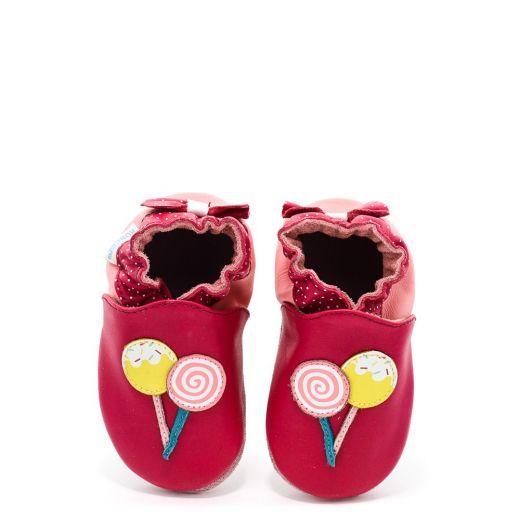 Incaltaminte bebelusi fete Funny Sweets Rose Rouge