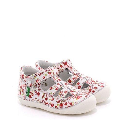 Sandale fete 611085 Sushy Blanc Fleuri