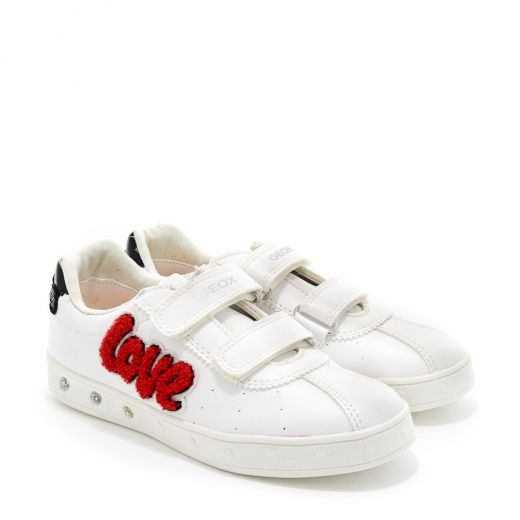 Pantofi Sport fete Skylin GC White Red