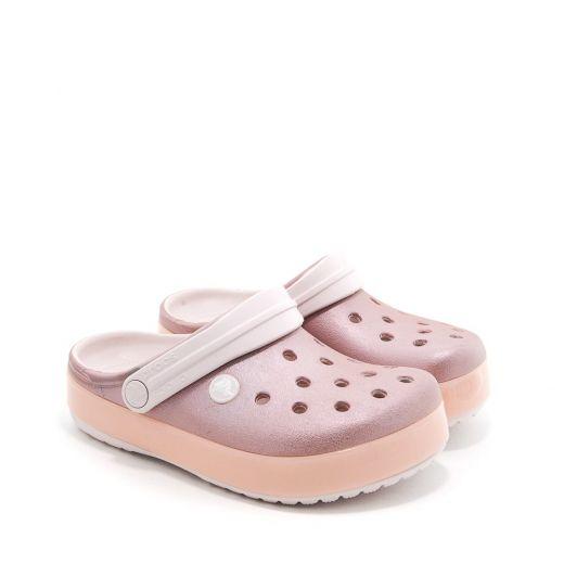 Sandale plaja fete Crocband Ice Pop Clog K Barely Pink