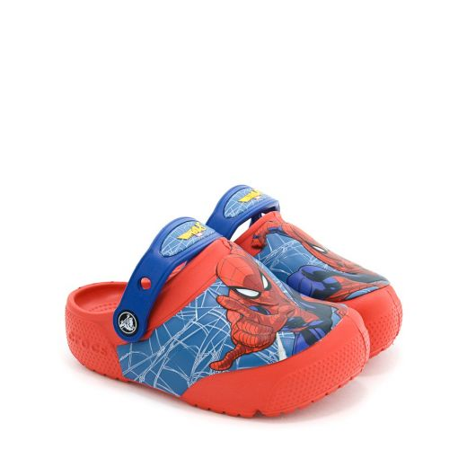 Sandale plaja baieti CrocsFl SpiderMan Lts Clg K Flame
