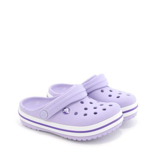 Sandale plaja fete Crocband Clog K Lavander Neon Purple