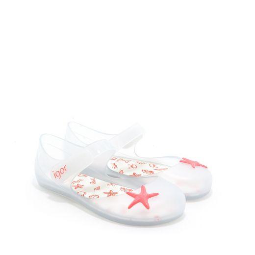 Sandale plaja fete Mia Estrella Blanco