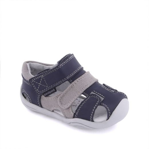 Sandale bebelusi Joshua Navy Grey