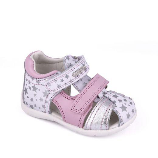 Sandale bebelusi Kaytan GG White Silver Pink